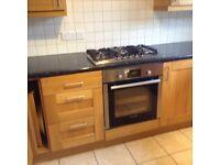 Oak shaker kitchen complete with appliances excellent condition