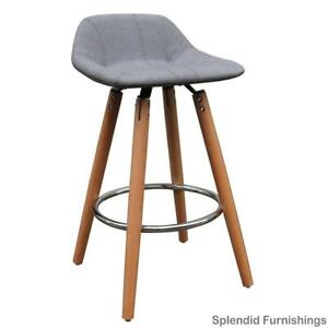 Early Spring Sale!  Contemporary, grey upholstered bar stools on promotion