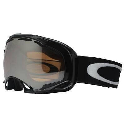 Oakley 01-806 Splice Jet Black Frame Black Iridium Lens Mens Snow Ski Goggles .