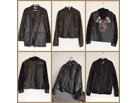 Various leather jackets