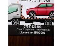 Cars vans motorbikes and scrap