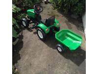 Folk Children's Tractor and Trailer