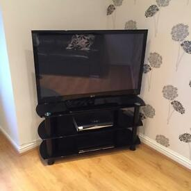 42 inch lg flat screen television with stand and DVD player