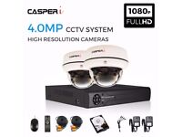 4.0MP 2x CCTV Video Security Camera CVI TVI AHD System 5 IN 1 Kit Mobile View