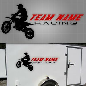 Motocross Race Team Graphic, Motocross Sticker, Trailer Decal - 22