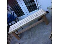 New handmade two seater garden bench soild wood