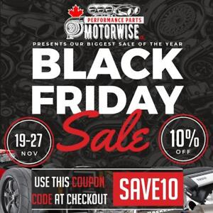 10% OFF www.motorwise.ca | 250,000 Performance Parts & Accessories In Stock & Ready to Ship | Free Shipping Canada Wide