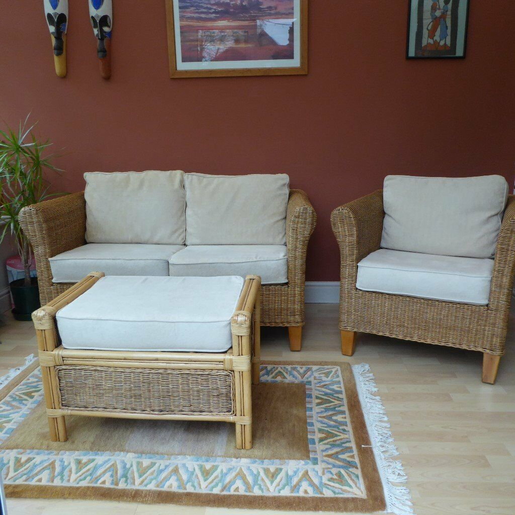 Rattan Conservatory Furniture for sale - 2 seater sofa ...