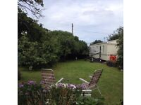 Holiday Caravan for Hire in Private Garden