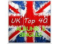 UK Top 40 albums & singles on a 16gb USB Stick