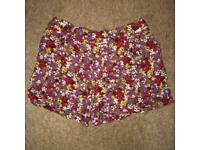 Age 12-13 floral shorts