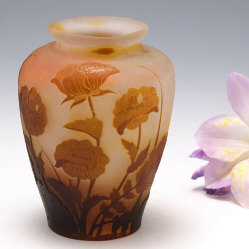 A Miniature Galle Cameo Glass Vase c1910