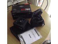 Top quality 760W Corsair PC power supply (PSU)