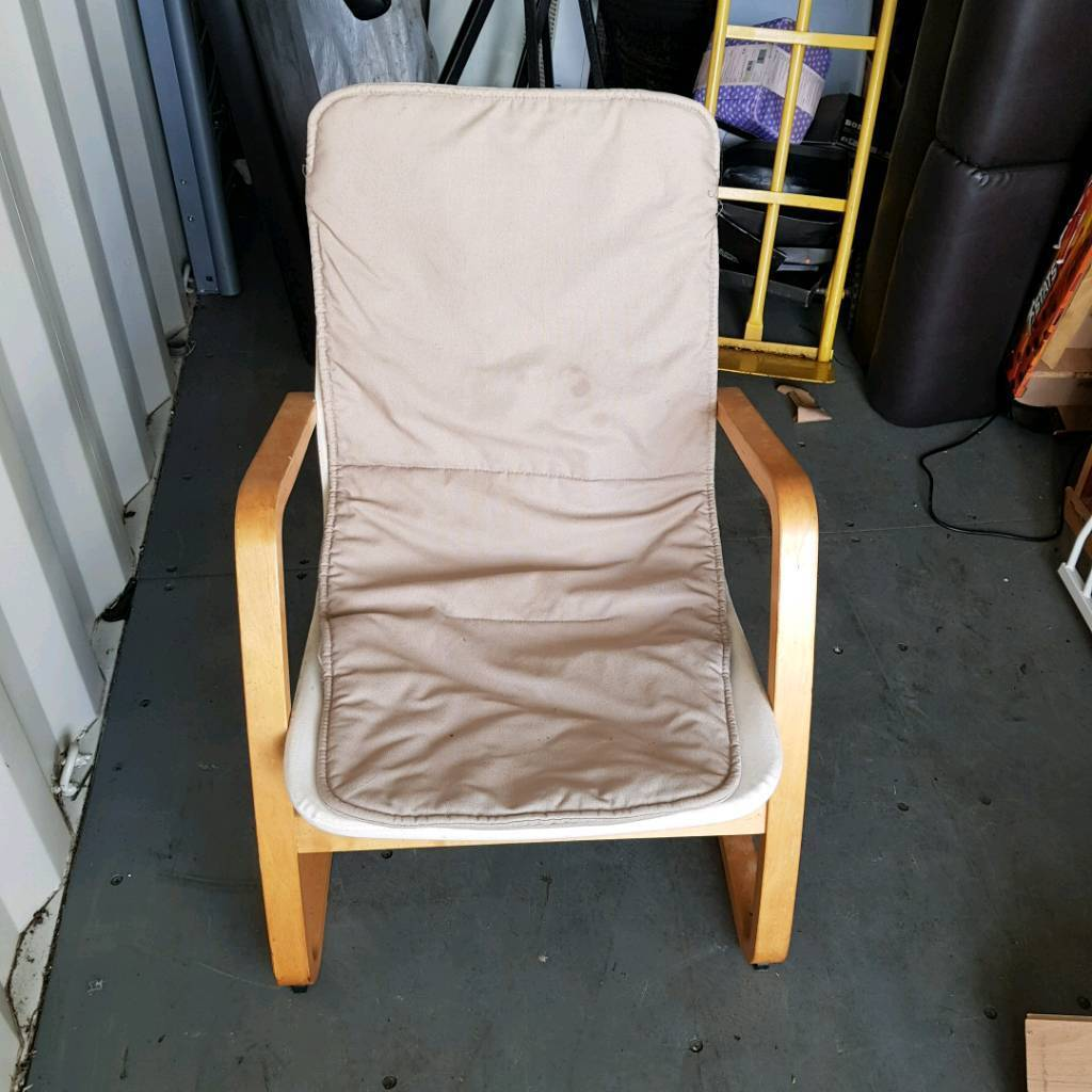 Poang chair with cover