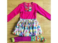 OILILY DRESS & TIGHTS AGE 4
