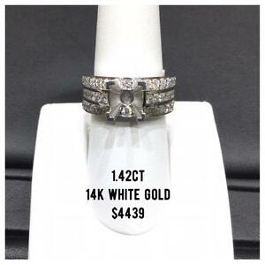 DIAMOND MOUNTS IN 14k GOLD
