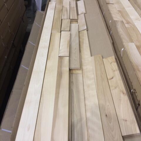 Unfinished Red Oak And Maple Hardwood Flooring