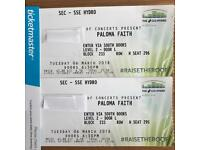 2 x TICKETS FOR PALOMA FAITH SSE HYDRO GLASGOW 06/03/18