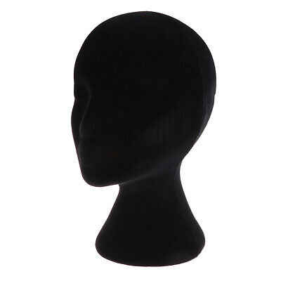 Black Female Styrofoam Foam Mannequin Manikin Display Head Wig Hat Stand Foams