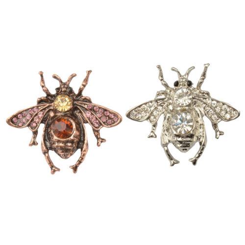 2pcs Broches Cristal Pins Insecte Abeille Épingles Broche Animaux