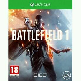 **WANTED** Battlefield 1 xbox one game