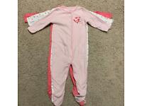 3 Pack Sleepsuits girls 9-12 months NEW