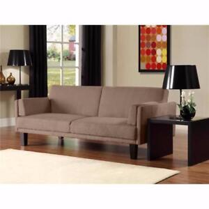 New, dHp Metro Futon Sofa Bed in Tan *PickupOnly