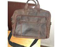 STILORD 'Jaron' Large Shoulder Bag Leather Men Women XL Laptop Bag 15.6 inches/C