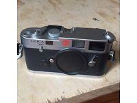 Leica M6 35mm Rangefinder Camera Silver, VGC