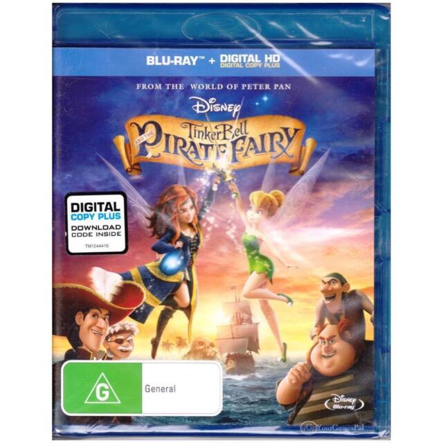 BLU-RAY TINKER BELL & THE PIRATE FAIRY Disney TinkerBell ALL REGIONS A-B-C [BNS]
