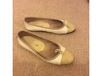 Ladies white leather shoes, Russell & Bromley, size 37.5