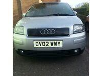 2002 Audi A2 1.4SE 5 door Petrol low mileage *** price drop ***