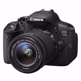 CANON EOS 700D DSLR WITH 18-55MM IS LENS + extras