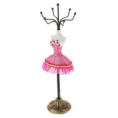 Bracelet Earrings Jewelry Display Stand Rack Holder Mannequin Decor Red