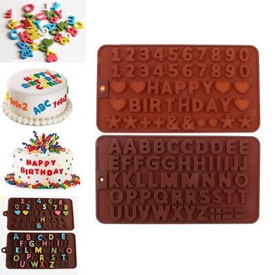 2 Stück Alphabet Buchstaben Anzahl Silikon Fondant Formen Kuchen Dekor