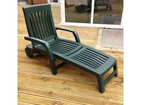 Green Plastic Garden Lounger