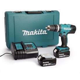 New! makita DHP453SFE Combi drill 2x batteries & charger