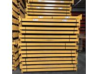 Used Link 51 Warehouse Racking - Pallet Racking- 20 bays 4m high x 1100mm D x 2.25m W x 2 Levels