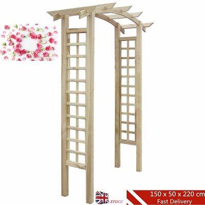 Impregnated Trellis Wooden Arbour/Rose Arch 2.2 m Garden Patio Climbing Plant UK