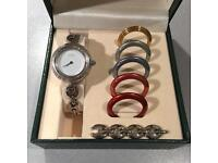 Gucci ladies silver watch