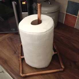 Industrial themed kitchen roll holder