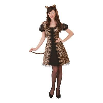 Cheetah Costume Women (NEW LEOPARD SASSY CHEETAH SEXY CAT HALLOWEEN COSTUME Adult Women size)