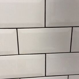 White metro tiles inc adhesive and grout