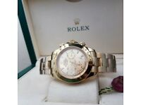 Rossco's Watches. Oyster Rolex Daytona. All Gold Edition. New and Boxed with Paperwork.