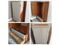 Upcycling restoration project wardrobe and drawers
