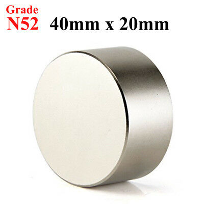 Large Magnets (N52 Large 40mm x 20mm Neodymium Rare Earth Magnet Big Super Strong Huge)