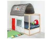 IKEA KURA KIDS BED + MATTRESS + HOUSE TENT