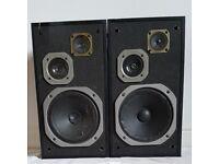 Large 2x pioneer speakers, model S-Z92, Black Wood Effect, vintage 120w
