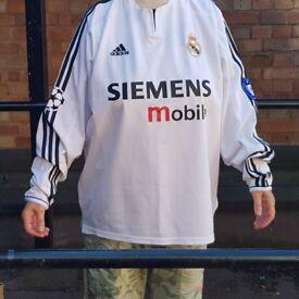 Retro Beckham Real Madrid Shirt