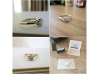 18ct Yellow Gold .50ct Brilliant Round Cut Diamond Solitaire Engagement Ring J